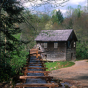 The flume at Mingus Mill, Great Smoky Mountains National Park, North Carolina