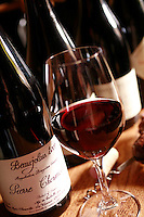 Domaine du Vissoux, Beaujolais..Chermette's Beaujolais with the label used for sale in the US... September 16, 2007..Photo by Owen Franken for the NY Times.