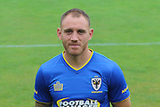 Barry Fuller at AFC Wimbledon Team Photo 02AUG16 at the Cherry Red Records Stadium, Kingston, England on 2 August 2016. Photo by Stuart Butcher.