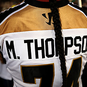 The back of the jersey of Miles Thompson #74 of the Rochester Rattlers is seen following the game at Harvard Stadium on August 9, 2014 in Boston, Massachusetts. (Photo by Elan Kawesch)