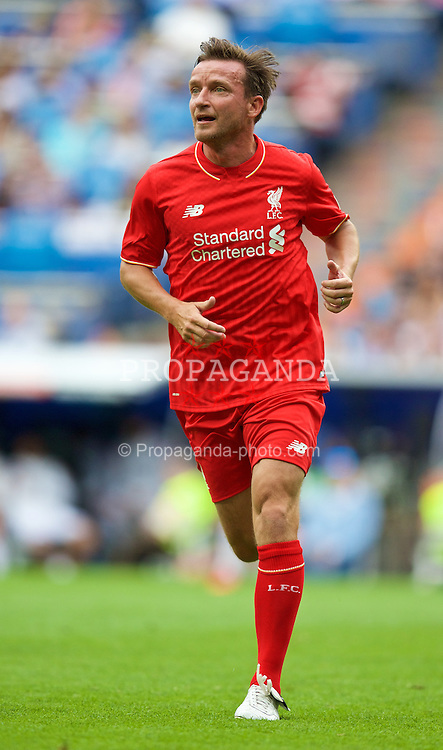 MADRIS, SPAIN - Sunday, June 14, 2015: Liverpool's Vladimir Smicer in action against Real Madrid during the Corazon Classic Legends Friendly match at the Estadio Santiago Bernabeu. (Pic by David Rawcliffe/Propaganda)