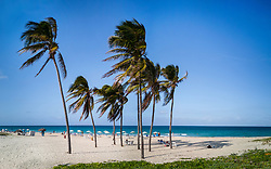 Sanata Maria beach near Havana, Cuba. Playa del Este.