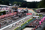 July 27-30, 2017 -  Total 24 Hours of Spa, Start of the 24 hours of Spa, led by Kaspersky Motorsport, Giancarlo Fisichella, Marco Cioci, James Calado, Ferrari 488 GT3