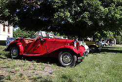 2018 Champagne British Car Festival held on Clover Lawn at David Davis Mansion in Bloomington IL<br /> <br /> 1952 MG