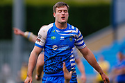 Halifax RLFC interchange James Green () in action  during the Betfred Championship match between Halifax RLFC and London Broncos at the MBi Shay Stadium, Halifax, United Kingdom on 8 April 2018. Picture by Simon Davies.