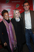 l to r: Tenesha Jackson-Warner, Laura Lewis and Chris Brown at The Rush Philanthropic 10th Annual Youth Annual Hoiliday Party sponsored by Bounty and held at the Fillmore New York at irving Plaza on December 10, 2009 in New York City.