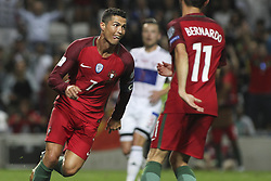August 31, 2017 - Porto, Porto, Portugal - Portugal's forward Cristiano Ronaldo celebrates after scoring goal during the FIFA World Cup Russia 2018 qualifier match between Portugal and Faroe Islands at Bessa Sec XXI Stadium on August 31, 2017 in Porto, Portugal. (Credit Image: © Dpi/NurPhoto via ZUMA Press)
