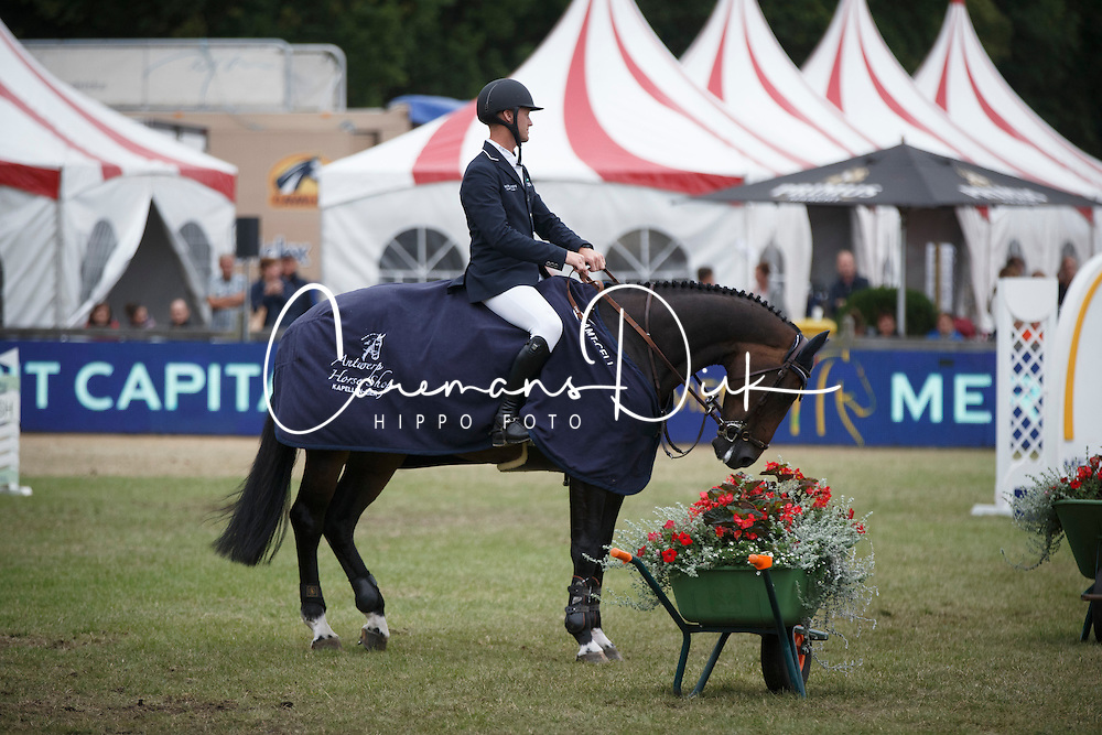 Bruynseels Niels, (BEL), Cas de Liberte <br /> Winner of the Grand Prix Meritt Capital<br /> Jumping Kapellen 2015<br /> &copy; Hippo Foto - Dirk Caremans<br /> 12/07/15