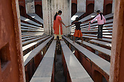 Jantar Mantar, copied from the Jaipur original observatory, Delhi, India
