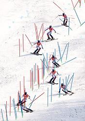 22.02.2018, Yongpyong Alpine Centre, Pyeongchang, KOR, PyeongChang 2018, Ski Alpin, Herren, Slalom, 2. Durchgang, im Bild David Chodounsky (USA) // David Chodounsky of the USA in action during the men's 2nd run Slalom race of the Pyeongchang 2018 Winter Olympic Games at the Yongpyong Alpine Centre in Pyeongchang, South Korea on 2018/02/22. EXPA Pictures © 2018, PhotoCredit: EXPA/ Johann Groder
