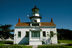 CA: Pacific Grove, California, Point Pinos lighthouse, 2005 .Image: captpinos202.Photo Copyright: Lee Foster, lee@fostertravel.com, www.fostertravel.com, (510) 549-2202..