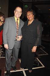 MR & MRS EDWIN POLLARD, he is High Commissioner of Barbados at a dinner to promote the Holders Season in Barbados held at The Four Seasons Hotel, Hamilton Place, London W1 on 30th January 2008.<br /> <br /> NON EXCLUSIVE - WORLD RIGHTS (EMBARGOED FOR PUBLICATION IN UK MAGAZINES UNTIL 1 MONTH AFTER CREATE DATE AND TIME) www.donfeatures.com  +44 (0) 7092 235465