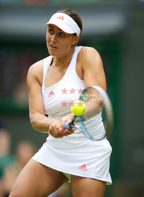 LONDON, ENGLAND - Wednesday, June 27, 2012: xxxx during the Ladies' Singles 1st Round match on day three of the Wimbledon Lawn Tennis Championships at the All England Lawn Tennis and Croquet Club. (Pic by David Rawcliffe/Propaganda)