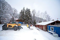 29.01.2013, Schladming, AUT, FIS Weltmeisterschaften Ski Alpin, Schladming 2013, Vorberichte, im Bild die Errichtung der Pichlmayr Alm am 29.01.2013 // building of the Pichlmayr Alm on 2013/01/29, preview to the FIS Alpine World Ski Championships 2013 at Schladming, Austria on 2013/01/29. EXPA Pictures © 2013, PhotoCredit: EXPA/ Martin Huber