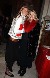 Left to right, MISS ALICE FERGUSON half sister of Sarah, Duchess of York and her mother SUSAN FERGUSON at Carols from Chelsea in aid of the Institute of Cancer Research at the Royal Hospital Chapel, Chelsea, London on 1st December 2005.<br />
