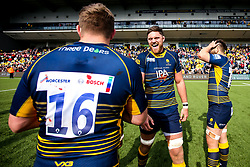 Darren Barry of Worcester Warriors celebrate beating Gloucester Rugby and securing Premiership Rugby status - Mandatory by-line: Robbie Stephenson/JMP - 28/04/2019 - RUGBY - Sixways Stadium - Worcester, England - Worcester Warriors v Gloucester Rugby - Gallagher Premiership Rugby