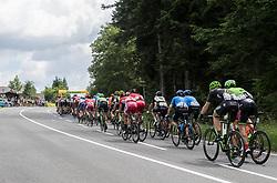 08.07.2017, Wels, AUT, Ö-Tour, Österreich Radrundfahrt 2017, 6. Etappe von St. Johann/Alpendorf nach Wels (203,9 km), im Bild das Feld am Pass Gschütt, Salzburg // the peleton climbs the Pass Gschuett Salzburg during the 6th stage from St. Johann/Alpendorf to Wels (203,9 km) of 2017 Tour of Austria. Wels, Austria on 2017/07/08. EXPA Pictures © 2017, PhotoCredit: EXPA/ Reinhard Eisenbauer