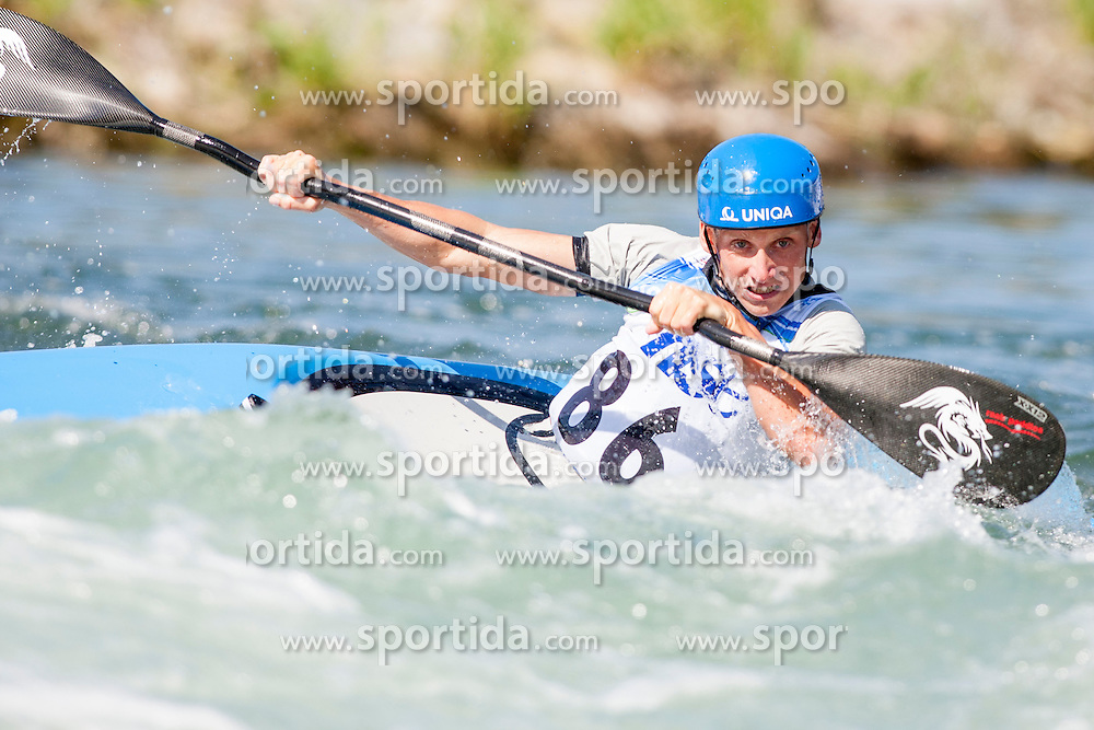 Lubos Hilgert of Czech Republic during Kayak(K1) Man semi-final race at ICF Canoe Slalom World Cup Sloka 2013, on August 17, 2013, in Tacen, Ljubljana, Slovenia. (Photo by Urban Urbanc / Sportida.com)