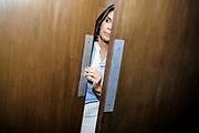 20190307/ Javier Calvelo - adhocFOTOS/ URUGUAY/ MONTEVIDEO/ Lanzamineto de carrera de Ver&oacute;nica Alonso en Hotel Esplendor por la interna del Partido Nacional donde en un acto con escenario central anuncia sus &ldquo;Propuestas para el Cambio&rdquo; <br /> En la foto: Ver&oacute;nica Alonso en el acto de lanzamiento de &ldquo;Propuestas para el Cambio&rdquo; en Hotel Esplendor de Punta Carretas. Foto: Javier Calvelo /  adhocFOTOS