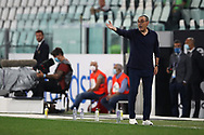 Juventus's Italian Head coach Maurizio Sarri shouts during the Serie A match at Allianz Stadium, Turin. Picture date: 26th June 2020. Picture credit should read: Jonathan Moscrop/Sportimage