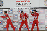 Scott Dixon, Ryan Briscoe, Dario Franchitti, Honda Indy 300, Mid Ohio Sports Car Course, Lexington, OH USA