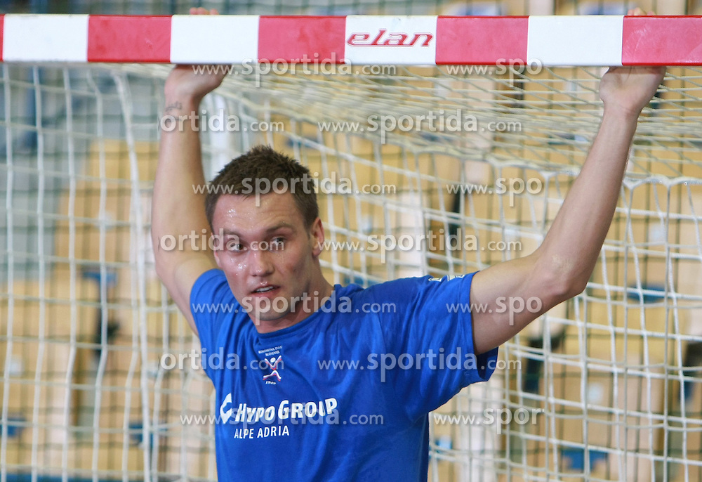 Luka Zvizej of Slovenia before  handball game between men national teams of Slovenia and Slovakia, first qualification game for the World Chamionship 2009, on June 7, 2008, in Arena Zlatorog, Celje, Slovenija. Result: 33 : 33. (Photo by Vid Ponikvar / Sportal Images)