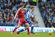 Brighton striker (on loan from Manchester United), James Wilson (21) during the Sky Bet Championship match between Brighton and Hove Albion and Middlesbrough at the American Express Community Stadium, Brighton and Hove, England on 19 December 2015.