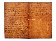 hand written old letter