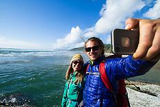 Hug Point, Oregon photos - oregon coast hiking, backpacking stock photos
