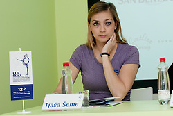 Tjasa Seme at Press conference of 25th International tournament MTM Narodni dom, on April 3, 2012 at Unija racunovodska hisa d. d., Brezovica, Slovenia. (Photo By Matic Klansek Velej / Sportida.com)