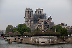 The Notre Dame Cathedral is still standing despite major damage caused by a giant fire. French President Emmanuel Macron vowed to rebuild the 13th century building that welcomes tens of millions of worshippers and tourists per year. Paris, France, April 16, 2019. Photo by Ania Freindorf/ABACAPRESS.COM