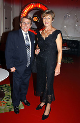 Racing commentator WILLIE CARSON and his wife ELAINE <br />at the 60th birthday party for Chris Wright held at Sketch, Conduit Street, London W1 on 7th September 2004.