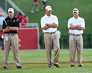 September 3, 2009: Iowa State head coach Paul Rhoads (center) during the start of the Iowa State Cyclones' 34-17 win over the North Dakota State Bison at Jack Trice Stadium in Ames, Iowa on September 3, 2009.
