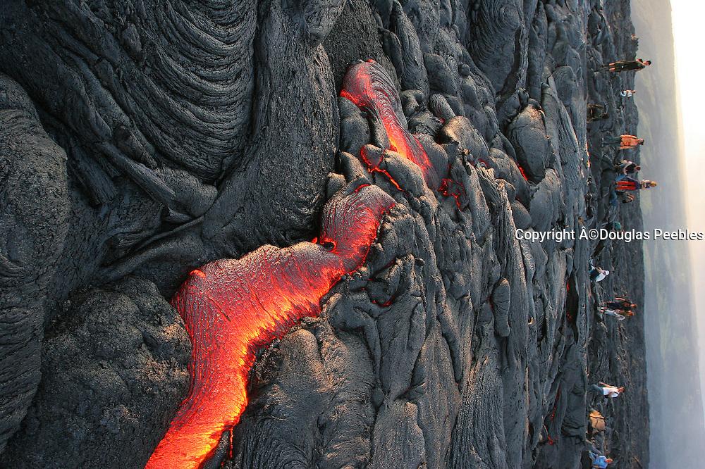 Pahoehoe Lava, Kilauea Volcano, Hawaii Volcanoes National Park, Island of Hawaii, Hawaii, USA