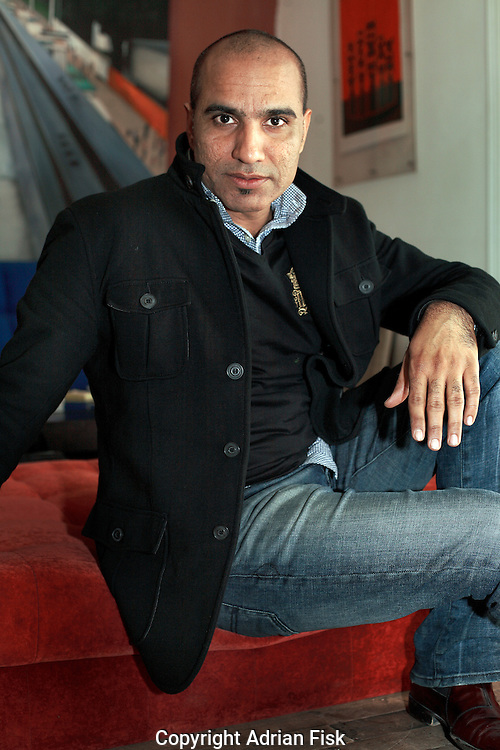 Pakistan's most famous contemporary artist Rashid Rana photographed at his studio in Lahore.