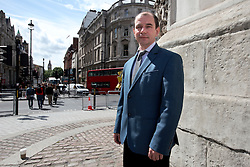UK ENGLAND LONDON 1JUN15 - Dr Igor Sutyagin, senior research fellow at the Royal United Services Institute, a defence and security think tank, poses for a photo at Whitehall, central London.<br /> <br /> jre/Photo by Jiri Rezac<br /> <br /> © Jiri Rezac 2015