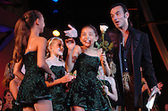 Joe Lanteri tells dancers that they won an award at the New York Dance Alliance's national competition finale July 10, 2005 in New York City. <br />