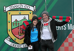 A Good Match Dublin supporter Lisa Murphy and Liam Sweeney from Ballindine pictured at the Mayo v Dublin league match at McHale park.<br />Pic Conor McKeown