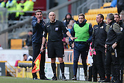 Bradford City Manager Phil Parkinson not happy during the Sky Bet League 1 match between Bradford City and Millwall at the Coral Windows Stadium, Bradford, England on 26 March 2016. Photo by Simon Davies.