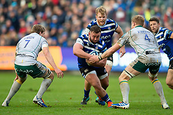 Will Stuart of Bath Rugby takes on the Northampton Saints defence - Mandatory byline: Patrick Khachfe/JMP - 07966 386802 - 09/11/2019 - RUGBY UNION - The Recreation Ground - Bath, England - Bath Rugby v Northampton Saints - Gallagher Premiership