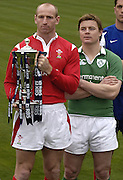 Gareth Thomas [Wales], Brian O'Driscoll [Ireland], respective Nations' captains line up for the picture at the   2006 RBS Six Nations Rugby launch Press Conference,  held at the Hurlingham Club, Fulham. London ENGLAND,  on 25.01.2006      © Peter Spurrier/Intersport Images - email images@intersport-images.   [Mandatory Credit, Peter Spurier/ Intersport Images].
