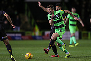 Forest Green Rovers Christian Doidge(9) runs forward during the EFL Sky Bet League 2 match between Forest Green Rovers and Mansfield Town at the New Lawn, Forest Green, United Kingdom on 29 January 2019.