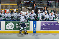 KELOWNA, CANADA - OCTOBER 10:  Noah Philp #16 of the Seattle Thunderbirds celebrates a goal against the Kelowna Rockets on October 10, 2018 at Prospera Place in Kelowna, British Columbia, Canada.  (Photo by Marissa Baecker/Shoot the Breeze)  *** Local Caption ***