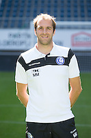 Gent's physiotherapist Matti Mortier pictured during the 2015-2016 season photo shoot of Belgian first league soccer team KAA Gent, Saturday 11 July 2015 in Gent.