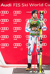 Second placed Alexis Pinturault (FRA) during flower ceremony after the10th Men's Giant Slalom race of FIS Alpine Ski World Cup 55th Vitranc Cup 2016, on March 5, 2016 in Kranjska Gora, Slovenia. Photo by Vid Ponikvar / Sportida