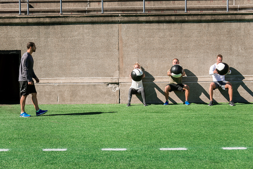 Reebok training session at Harvard Stadium - Allston, MA