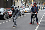 Mar 31, 2016 - New York, NY, USA - Jacob Latimore and Will Smith filming the movie 'Collateral Beauty' on location in Manhattan <br /> (Credit Image: © Exclusivepix Media)