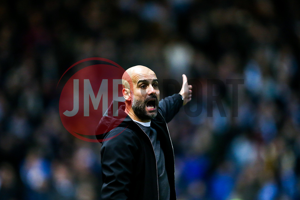 Manchester City manager Josep Guardiola - Rogan/JMP - 23/01/2018 - Ashton Gate Stadium - Bristol, England - Bristol City v Manchester City - Carabao Cup Semi Final Second Leg.