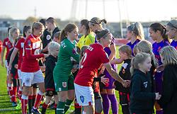 Pre-match hand-shakes - Mandatory by-line: Paul Knight/JMP - 17/11/2018 - FOOTBALL - Stoke Gifford Stadium - Bristol, England - Bristol City Women v Liverpool Women - FA Women's Super League 1