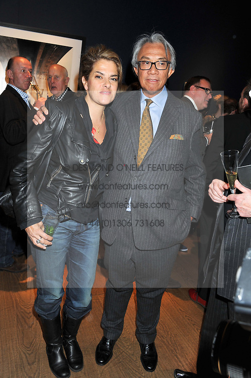 TRACEY EMIN and SIR DAVID TANG at the Lighthouse Gala Auction in aid of The Terrence Higgins Trust held at Christie's, 8 King Street, St.James' London on 19th March 2012.